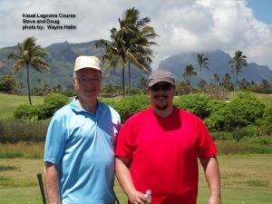 2014-05-22--#02--Golf at Kauai Lagoons - Steve and Doug