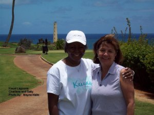 2014-06-07--#02--Golf at Kauai Lagoons - Charlene and Sally