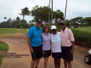 2014-06-07--#04--Golf at Kauai Lagoons - Wayne Sally Charlene and Louis