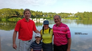 Me with Lisa and her family after the round.