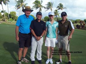On the Kauai Lagoons Course - Wayne Kenneth Sachiko and Mark