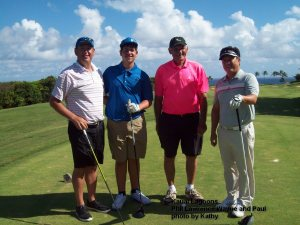 On the Kauai Lagoons Course - Phil Lawrence Wayne and Paul