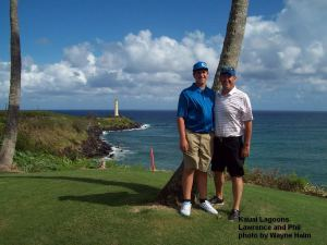 Lawrence and Phil Sokol on Kauai Lagoons Course