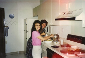 In Linda's condo - Linda and Sally
