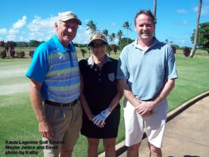Kauai Lagoons Golf Course - Wayne Janice and David