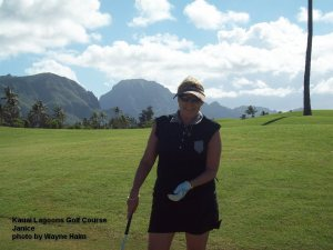 Kauai Lagoons Golf Course - Janice on 11th fairway