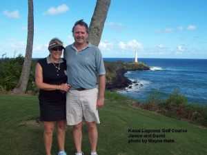 Kauai Lagoons Golf Course - Janice and David by ocean