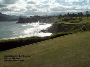 Kauai Lagoons Golf Course - Surf and 14th hole