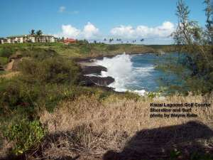 Kauai Lagoons Golf Course - Shoreline and Surf