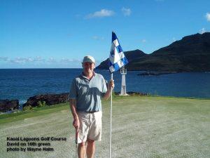 Kauai Lagoons Golf Course - David on 16th Green