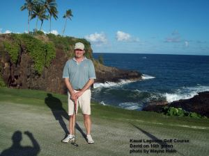 Kauai Lagoons Golf Course - David on 16th Green