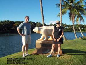 Kauai Lagoons golf Course - David and Janice