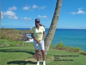 Kauai Lagoons Golf Course - Tracy by the ocean