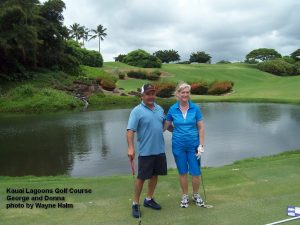 George and Donna at the Kauai Lagoons Golf Club