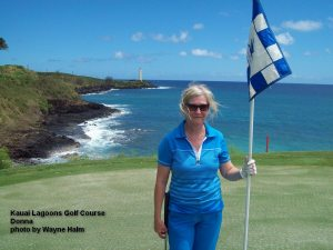 Donna on the Kauai Lagoons Golf Club