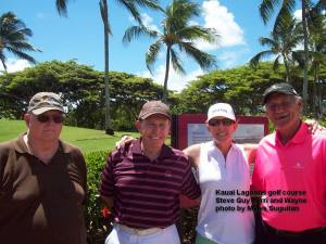 2014-09-10--#01--Golf at Kauai Lagoons - Steve Guy Terri and Wayne.jpg