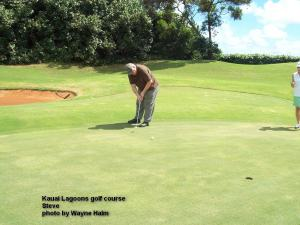 Kauai Lagoons Golf Club - I believe this was Steve's longest putt - he drained it.