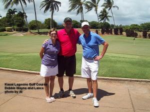2014-09-18--#01--Golf at Kauai Lagoons - Debbie Wayne and Lance.jpg