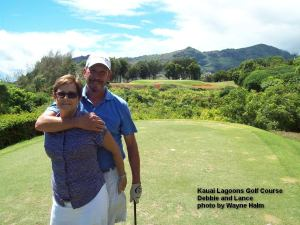Debbie and Lance on the 5th Tee Box.  Lance had already 'cleared' the canyon - so he was in a good mood.