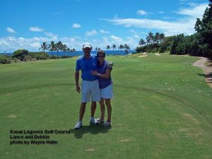 Lance and Debbie on the 13th Tee.