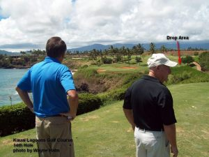 The 14th hole can be intimidating - Why? - Well, see how I played it below.