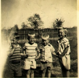 It was the mid 50s.  I was just a little guy back them.  I'm the one on the far right.