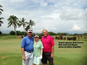 2014-10-07--#01--Golf at Kauai Lagoons - Bob Joan and Wayne.jpg
