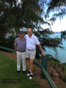 Kenneth and Matt on the 16th Tee box at Kauai Lagoons