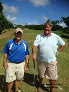 Charlie and Jay -- they flew over on Jay's aeroplane to play golf with me.