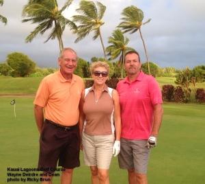 2014-10-31--#01--Golf at Kauai Lagoons -Wayne Deirdre and Dean.jpg