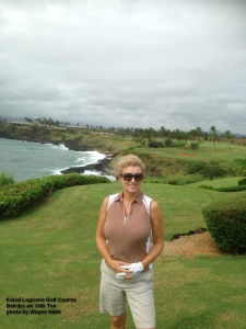 Deirdre on the 14th Tee - She may just have been happy that this wasn't her tee.
