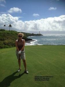 Deirdre on the 14th Green