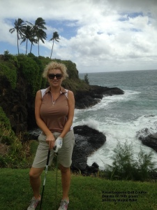 Deirdre on the 16th Green.