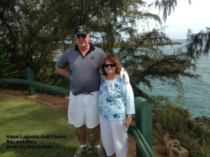 Ray and Mary -  Notice that the 'one-putt' smile is still there.