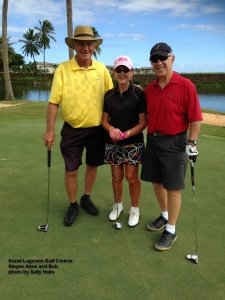2014-11-09--#01--Golf at Kauai Lagoons - Wayne Anne and Bob.jpg