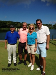 2014-11-14--#30--Golf at Kauai Lagoons - Kenneth Wayne Ann and Scott.jpg