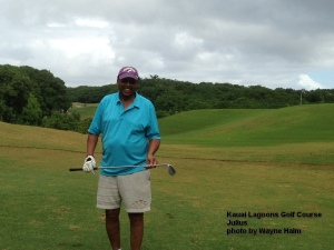 Julius - happy to be on the 5th hole.