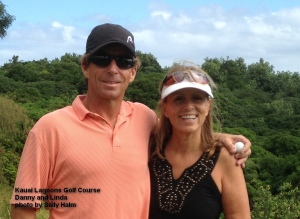 Danny and Linda -- We had played when they were visiting from Punta Gorda, Florida - We had so much fun they decided to move here - Well, maybe there was more to it than that - But we celebrated with a round of golf anyway.