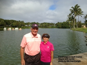 Wayne and Jackie at the Kauai Lagoons Golf Course