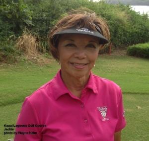 Jackie on the Kauai Lagoons Golf Course