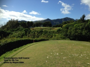 5th hole on the Kauai Lagoons Golf Course