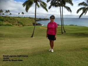 Jackie on the Kauai Lagoons Golf Course