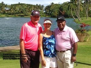 2015-01-23--#01--Golf at Kauai Lagoons -Wayne Emily and Leonard