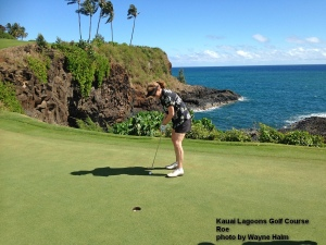 Kauai Lagoons 16th green