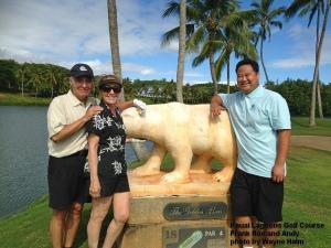 Kauai Lagoons Golden Bear Statue
