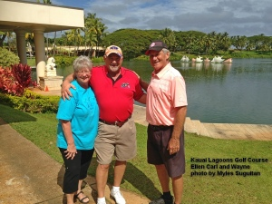 2015-02-01--#01--Golf at Kauai Lagoons - Ellen Carl and Wayne