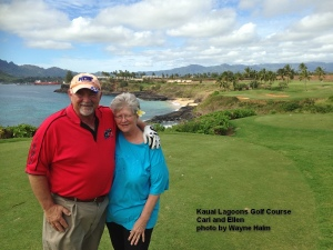 Kauai Lagoons Golf Course 14th tee.