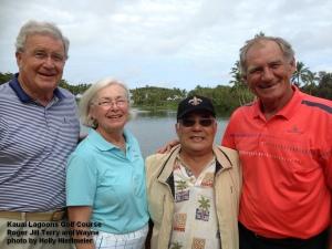2015-02-23--#01--Golf at Kauai Lagoons - Roger Jill Terry and Wayne