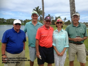 2015-03-29--#32-- Golf at Kauai Lagoons - Brian Zeb Wayne Linda and Jim