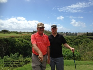2015-05-02--#01--Golf at Kauai Lagoons - Wayne and Peter